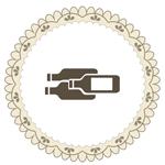 Icon mit Weinflaschen